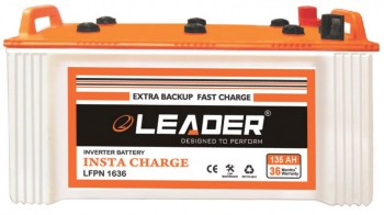 Leader 135AH Short Tubular Inverter Battery Chennai