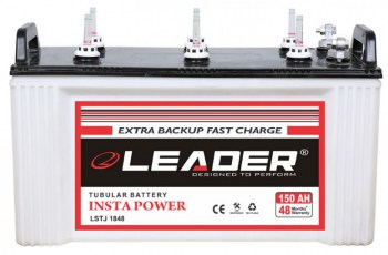 Leader 150Ah Short Tubular Inverter Battery