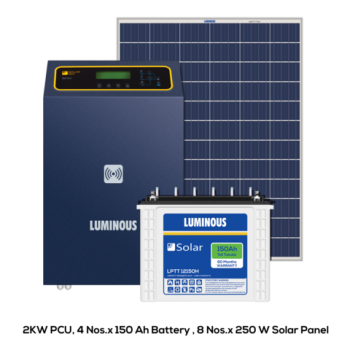 Luminous 2 KW Solar Combo